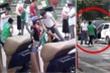 Sau va chạm, tài xế ô tô đấm đá túi bụi nhân viên giao hàng ở Hà Nội