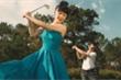 Mỹ Ngọc Bolero khoe ảnh cưới tại sân golf