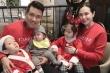 Tuấn Hưng hạnh phúc bên vợ đẹp và ba con xinh xắn, đáng yêu