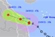Bão số 6 giật cấp 10 đang ở trên vùng biển Quảng Trị - Quảng Ngãi