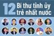 Infographic: 12 Bí thư Tỉnh ủy trẻ nhất nước là ai?