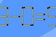 Thêm 2 que diêm để phép tính 3-0=5 thành đúng