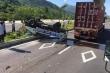 Xe container tông xe CSGT khiến 2 chiến sĩ thương nặng
