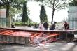 Cổng chào Bảo tàng tỉnh Đắk Lắk đổ sập:  Lộ phần trụ xây bằng gạch