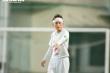 Cầu thủ U19 nữ quấn băng trắng, miệt mài thi đấu dưới mưa