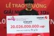 Lãnh đạo Vietlott: 'Người trúng 20 tỷ đồng là sinh viên'