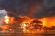 Video: Cận cảnh cháy lớn tại khu công nghiệp Yên Phong, Bắc Ninh