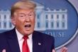 Trump phấn khích, theo dõi kết quả từ Nhà Trắng với gia đình