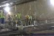 Thi công tầng trung chuyển đường sắt Nhổn - ga Hà Nội nằm sâu 19m dưới lòng đất