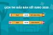 Lịch thi đấu bán kết EURO 2020: Italy vs Tây Ban Nha, Anh vs Đan Mạch