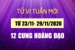 Tử vi tuần 23/11- 29/11/2020 12 cung hoàng đạo: Sư Tử tài chính khả quan