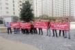 TP.HCM: Chủ đầu tư dính kiện tụng, khách căng băng rôn đòi nhà tại dự án Green Town Bình Tân