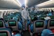Ảnh: Đoàn thể thao dự Army Games trên 'siêu máy bay' của Vietnam Airlines