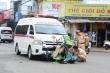 Xe cấp cứu của bệnh viện Đa khoa vùng Tây Nguyên gây tai nạn ở Đắk Lắk