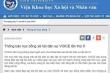 Công an điều tra website Đại học Vinh đăng thông tin học bổng cho tổ chức phản động