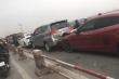 7 ô tô tông liên hoàn trên cầu Thanh Trì, giao thông tắc cứng
