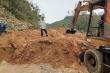 Mưa lớn gây sạt lở, tuyến đường lên biên giới ở Quảng Nam bị chia cắt