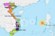 Bão số 10 giật cấp 10 hướng đất liền Đà Nẵng - Phú Yên