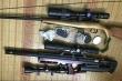 Triệt phá sới bạc, thu giữ 3 khẩu súng và 300 viên đạn