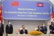 Trung Quốc - Campuchia ký kết hiệp định thương mại tự do