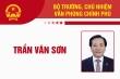 Infographic: Sự nghiệp Bộ trưởng, Chủ nhiệm Văn phòng Chính phủ Trần Văn Sơn