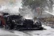 Siêu xe của sao Valencia cháy thành đống tro tàn