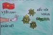 Tranh cổ động chống Covid-19 đầy màu sắc của 'hoạ sĩ nhí' tại Hà Nội