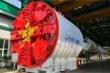 Cận cảnh xếp dỡ robot đào hầm metro Nhổn - ga Hà Nội tại cảng Hải Phòng