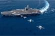2 tàu sân bay Mỹ tập trận sát Biển Đông