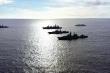 Loạt tàu chiến Nga rầm rộ tập trận ở Thái Bình Dương