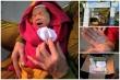 Bé trai 10 ngày tuổi nằm trong giỏ mây, bị bỏ rơi trước cổng tịnh xá