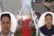 Hai người đốt pháo đỏ đường trong đám cưới ở Hà Nội khai gì?