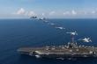 Video: Tàu sân bay USS Ronald Reagan tập trận tác chiến trên Biển Đông