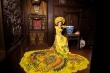 Hoa khôi Khánh My đội mấn nặng 4 kg khi chụp ảnh với áo dài