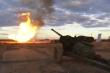 Xem pháo MT-12 của Nga tung đòn sấm sét khống chế đám cháy giếng dầu ở Siberia