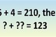 Thử tài với câu đố IQ: Vì sao 6 + 4 = 210?