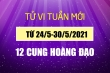 12 cung hoàng đạo tuần mới 24/5-30/5:  Bọ Cạp cực may mắn, Xử Nữ đòi được nợ