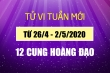 Dự đoán 12 cung hoàng đạo tuần mới 26/4 - 2/5/2021: Ma Kết tài chính khả quan