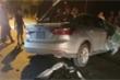Hai ô tô biển xanh tông nhau kinh hoàng ở Lào Cai, xe con bị vò nát