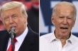 Thông điệp trái ngược của Trump và Biden trước giờ bỏ phiếu