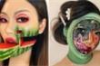 Trang điểm kinh dị gây ảo giác, cô gái gốc Hàn 'hot rần rần' trên mạng