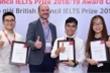 Ba học sinh Việt Nam nhận Học bổng IELTS Prize từ Hội đồng Anh