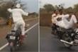 Video: Thót tim xem cụ ông thả tay, nhảy múa khi phóng xe máy với tốc độ cao