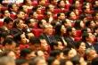 Ảnh: Đại biểu Đại hội XIII của Đảng thảo luận Văn kiện tại hội trường