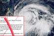 Tin giả 'siêu bão cấp 17 sắp đổ bộ miền Trung' là vô lương tâm, đáng lên án