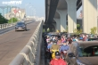 Ảnh: Cảnh đối lập ở Vành đai 2 đoạn Ngã Tư Vọng - Ngã Tư Sở ngày thông xe