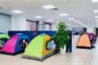 Ngân hàng ở TP.HCM cho nhân viên ăn, ngủ, làm việc tại văn phòng