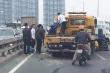 Xe cứu hộ tông xe hút rác trên cầu Nhật Tân, công nhân môi trường thiệt mạng