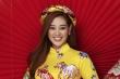 Hoa hậu Nguyễn Trần Khánh Vân rực rỡ diện áo dài Tết