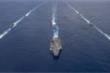 Video: Nhóm tấn công tàu sân bay Nimitz của Mỹ khai hỏa trên Ấn Độ Dương